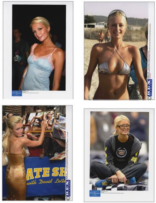 Paris Hilton Set Of 5 Reprint Photographs photograph UK 69RPHSE379370