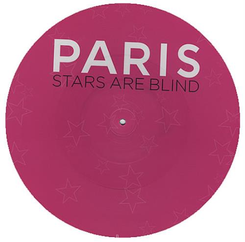 "Paris Hilton Stars Are Blind 12"" vinyl picture disc 12inch picture disc record UK 69R2PST367014"