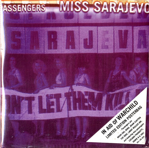 "Passengers Miss Sarajevo - Sealed Posterbag CD single (CD5 / 5"") UK PSSC5MI546450"