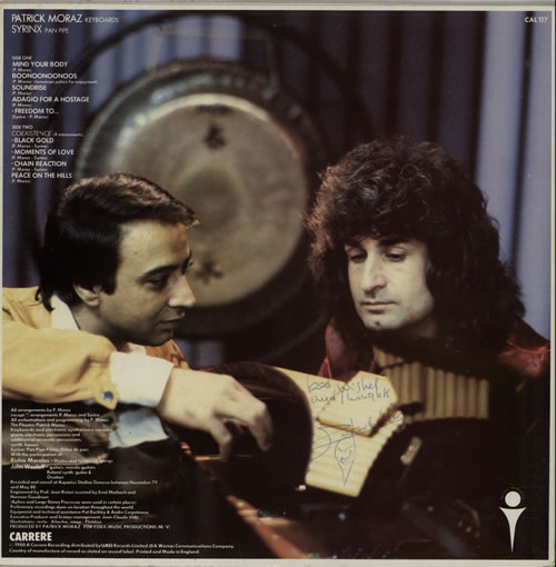 Patrick Moraz Co-Existence - Autographed vinyl LP album (LP record) UK ZMPLPCO582272