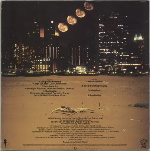 Patrick Moraz Patrick Moraz vinyl LP album (LP record) UK ZMPLPPA699108