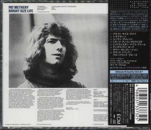 Pat Metheny Bright Size Life CD album (CDLP) Japanese PMECDBR774486