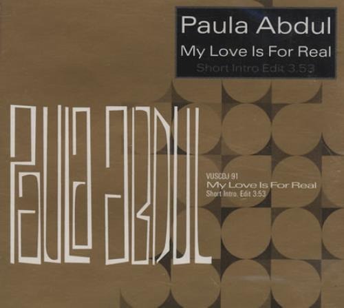 "Paula Abdul My Love Is For Real CD single (CD5 / 5"") UK ABDC5MY46737"
