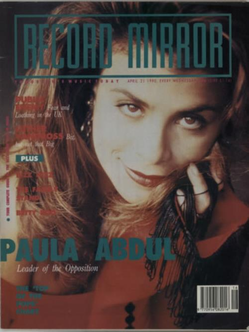 Paula Abdul Record Mirror magazine UK ABDMARE607626