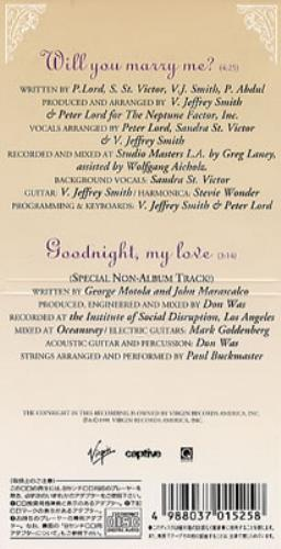 "Paula Abdul Will You Marry Me 3"" CD single (CD3) Japanese ABDC3WI131238"