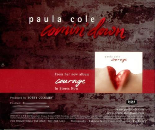 "Paula Cole Comin' Down CD single (CD5 / 5"") US PAUC5CO418870"