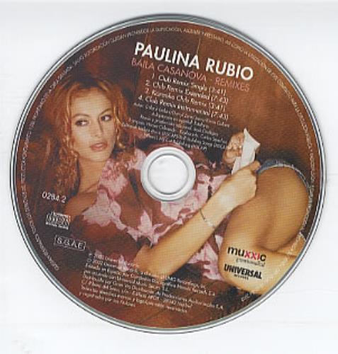 "Paulina Rubio Baila Casanova - Remixes CD single (CD5 / 5"") Spanish PNAC5BA242818"