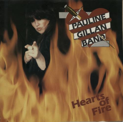 Pauline Gillan Hearts Of Fire - Test Pressing vinyl LP album (LP record) UK P55LPHE601041