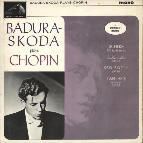 Paul Badura-Skoda Badura-Skoda Plays Chopin vinyl LP album (LP record) UK QB6LPBA710411