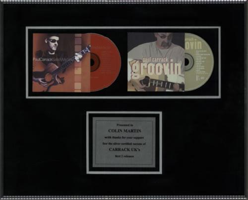 Paul Carrack Satisfy My Soul / Groovin in-house award disc UK PCAAISA601016