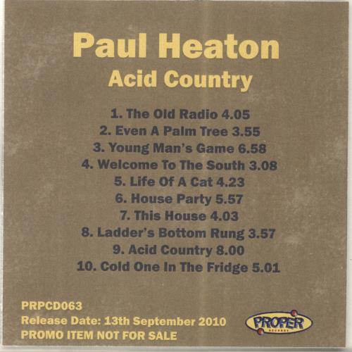 Paul Heaton Acid Country CD-R acetate UK PONCRAC693053