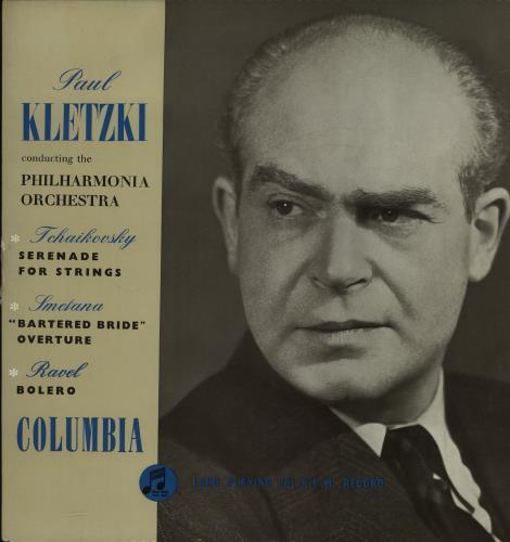 Paul Kletzki Tchaikovsky: Serenade For Strings / Smetana: Bartered Bride Overture / Ravel: Bolero vinyl LP album (LP record) UK PZXLPTC661022