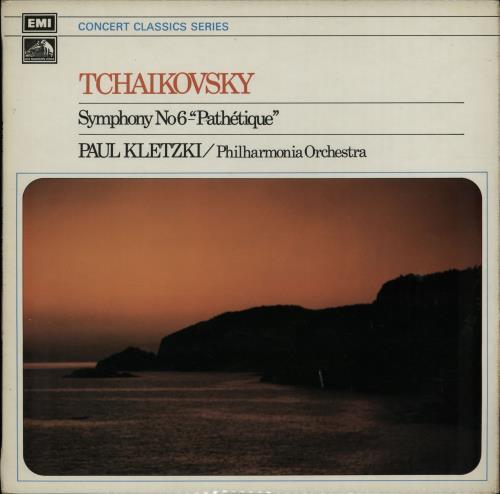 "Paul Kletzki Tchaikovsky: Symphony No. 6 ""Pathetique"" vinyl LP album (LP record) UK PZXLPTC650873"