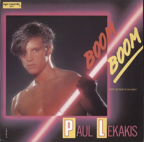 "Paul Lekakis Boom Boom (Let's Go Back To My Room) 12"" vinyl single (12 inch record / Maxi-single) US P0412BO725630"