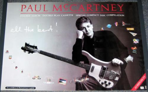 Paul McCartney And Wings All The Best Poster UK MCCPOAL376750