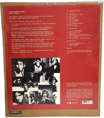 Paul McCartney and Wings At The Speed Of Sound - Deluxe Edition - sealed CD Album Box Set UK MCCDXAT768280