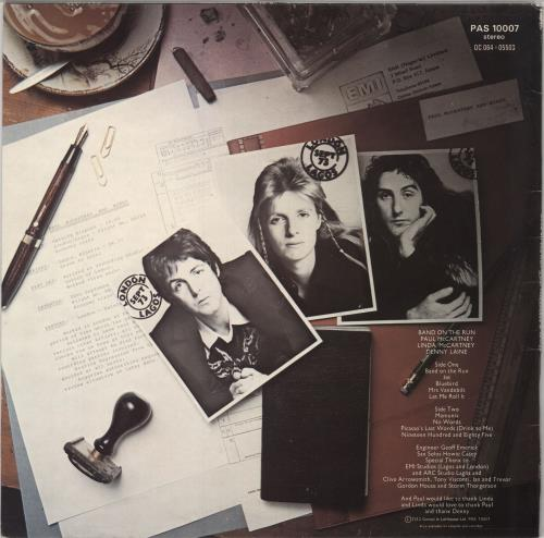Paul McCartney and Wings Band On The Run - 1st - VG+ vinyl LP album (LP record) UK MCCLPBA745919