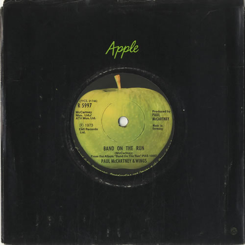 """Paul McCartney and Wings Band On The Run - Solid 7"""" vinyl single (7 inch record) German MCC07BA520766"""