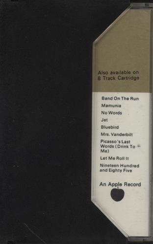 Paul McCartney and Wings Band On The Run cassette album UK MCCCLBA759007