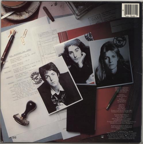 Paul McCartney and Wings Band On The Run vinyl LP album (LP record) US MCCLPBA765606