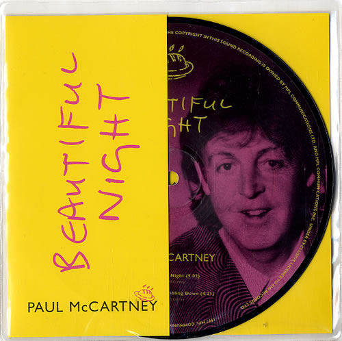 """Paul McCartney and Wings Beautiful Night 7"""" vinyl picture disc 7 inch picture disc single UK MCC7PBE101805"""