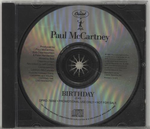"Paul McCartney and Wings Birthday CD single (CD5 / 5"") US MCCC5BI24629"