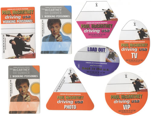 Paul McCartney and Wings Collection Of Tour Passes tour pass US MCCTPCO462245