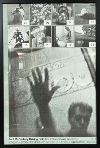 Paul McCartney and Wings Driving Rain poster UK MCCPODR203567