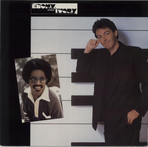 "Paul McCartney and Wings Ebony & Ivory 12"" vinyl single (12 inch record / Maxi-single) UK MCC12EB659891"