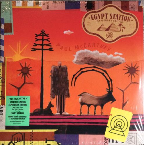 Paul McCartney and Wings Egypt Station - Explorer's Edition - Sealed 3-LP vinyl record set (Triple Album) US MCC3LEG763434
