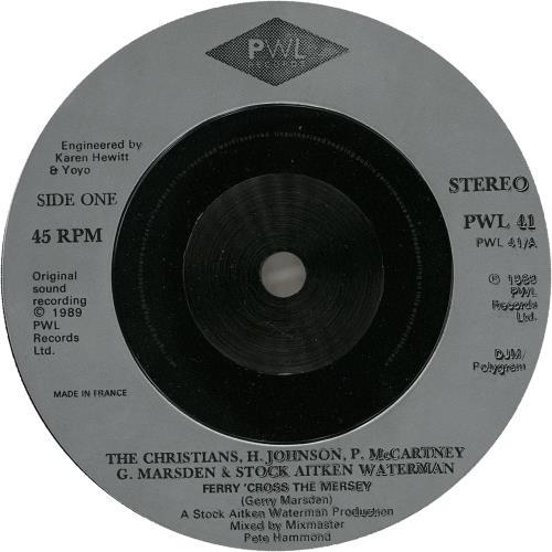 "Paul McCartney and Wings Ferry 'Cross The Mersey - Inj + Sleeve 7"" vinyl single (7 inch record) UK MCC07FE751033"