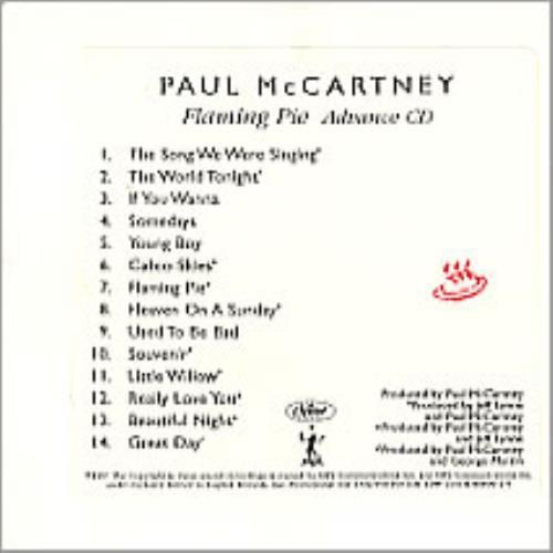 Paul McCartney and Wings Flaming Pie - Advance CD CD album (CDLP) US MCCCDFL85683