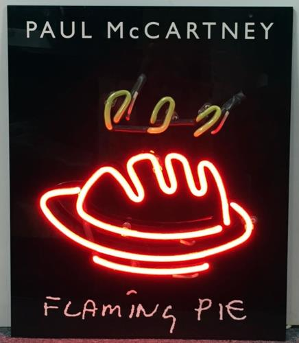 Paul McCartney and Wings Flaming Pie - Neon Display UK Promo