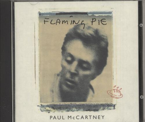 Paul McCartney and Wings Flaming Pie - Promo Stickered CD album (CDLP) UK MCCCDFL749127