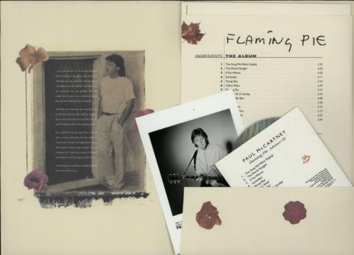 Paul McCartney and Wings Flaming Pie media press kit US MCCPPFL101396