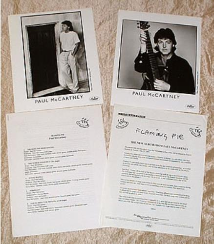 Paul McCartney and Wings Flaming Pie media press pack US MCCPPFL297629