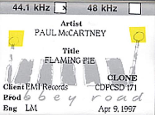 Paul McCartney and Wings Flaming Pie digital audio tape DAT UK MCCDAFL315590