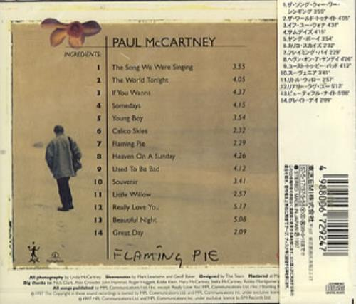 Paul McCartney and Wings Flaming Pie CD album (CDLP) Japanese MCCCDFL82894