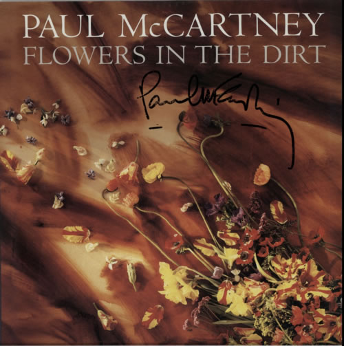 Paul McCartney and Wings Flowers In The Dirt - Signed Press Kit media press kit French MCCKIFL616804