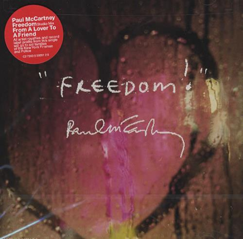 """Paul McCartney and Wings Freedom/From A Lover To A Friend CD single (CD5 / 5"""") US MCCC5FR209548"""