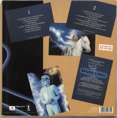 Paul McCartney and Wings Give My Regards To Broad Street - Factory Sample vinyl LP album (LP record) UK MCCLPGI298016