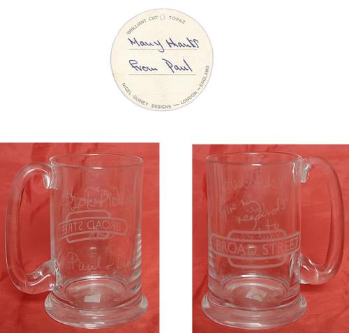 Paul McCartney and Wings Give My Regards To Broad Street Tankard memorabilia UK MCCMMGI507722