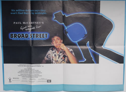 Paul McCartney and Wings Give My Regards To Broad Street poster UK MCCPOGI591203