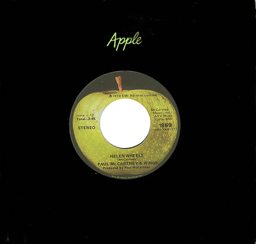 "Paul McCartney and Wings Helen Wheels - 1st 7"" vinyl single (7 inch record) US MCC07HE402142"