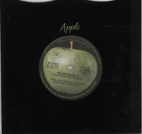 """Paul McCartney and Wings Helen Wheels 7"""" vinyl single (7 inch record) Australian MCC07HE676966"""
