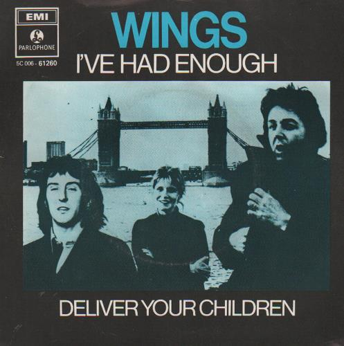 Paul Mccartney And Wings I Ve Had Enough Dutch 7 Quot Vinyl
