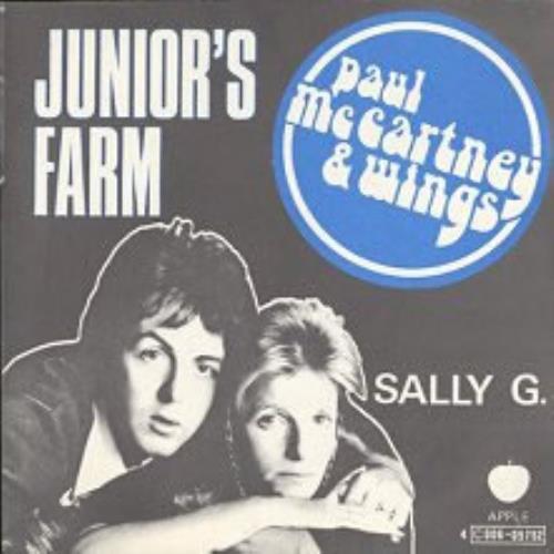 """Paul McCartney and Wings Junior's Farm 7"""" vinyl single (7 inch record) Belgian MCC07JU71915"""