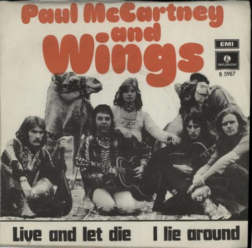 Paul McCartney And Wings Live Let Die 7 Vinyl Single Inch Record