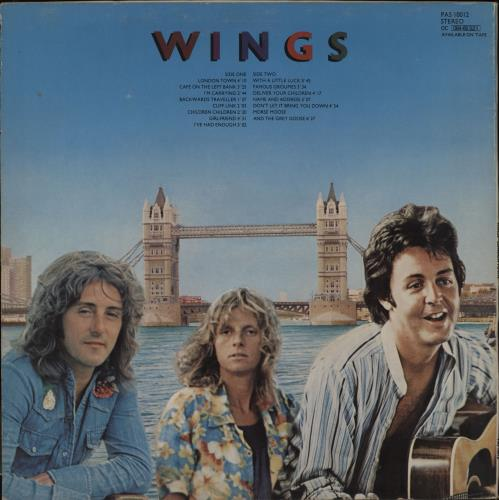 Paul McCartney and Wings London Town + Poster - EX vinyl LP album (LP record) UK MCCLPLO759646
