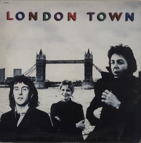 Paul McCartney and Wings London Town + Poster vinyl LP album (LP record) Italian MCCLPLO572685